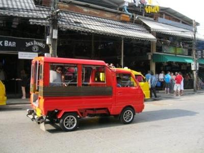 Local Patong Tuk tuk driver always on the look out for their next customer