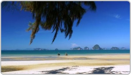 View of Hong Island from Tubkaak Beach, Krabi