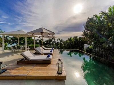Private vacation rental pool in Phuket