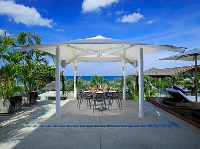 Poolside lunches in your own private villa