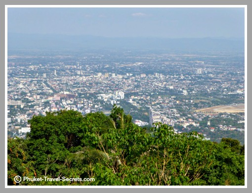 Stunning views from the terrace at Doi Suthep.