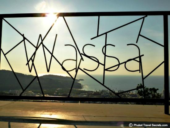 Wrought iron signage at Wassa Homemade bar & Viewpoint