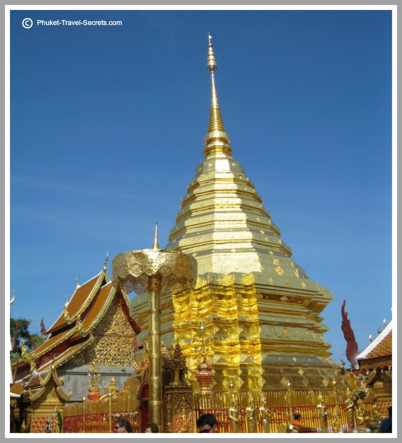 Golden Chedi at Wat Phra That Doi Suthep