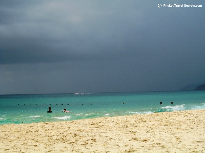 Storm rolling in over Karon Beach in Phuket during the month of April.