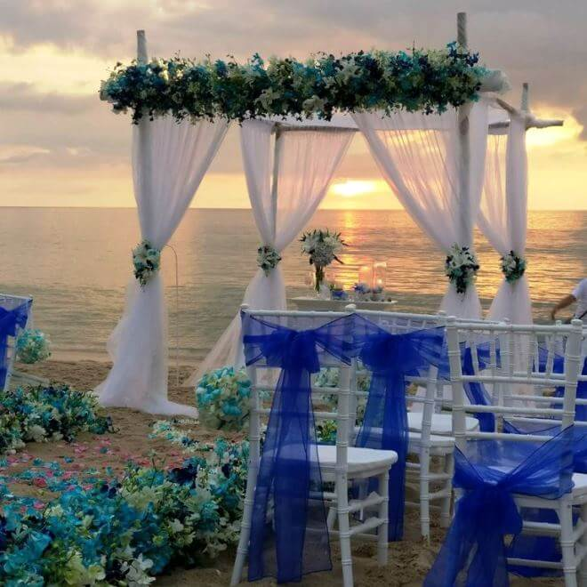 beach themed wedding decorations wedding theme ideas in phuket best weddings on a budget 1558