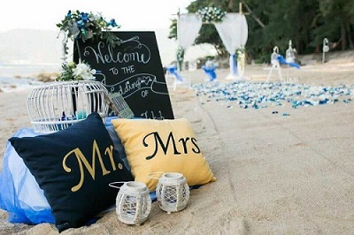 Simple ideas for a beach wedding in Phuket