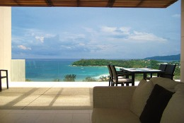 Relax on the balcony of a your rental villa in Phuket.