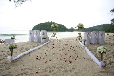 Beach Wedding Setting at Layan Beach, Phuket
