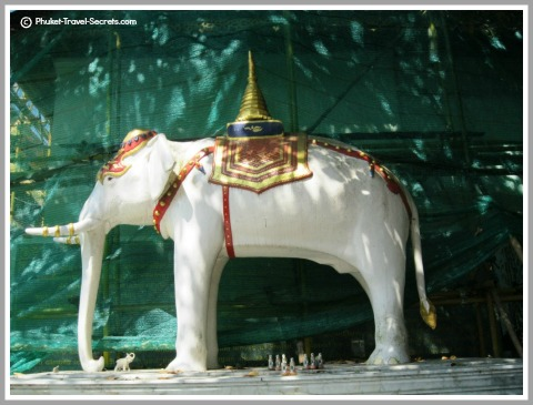 Legendary White Elephant at Doi Suthep.