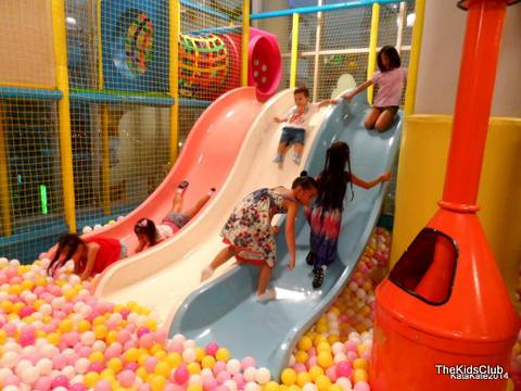 The Kids Club Phuket have a range of slides and a ball pit for the kids to enjoy.