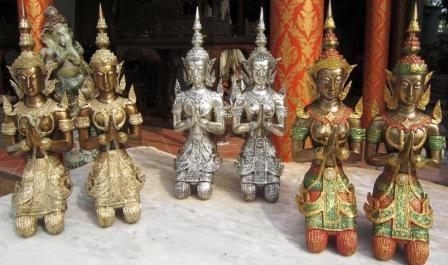 Brass, Silver and Multi coloured Teppanom Angels