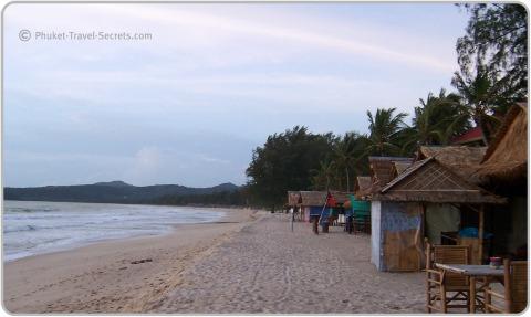 View of Bang Tao Beach in Phuket looking north along the beach.