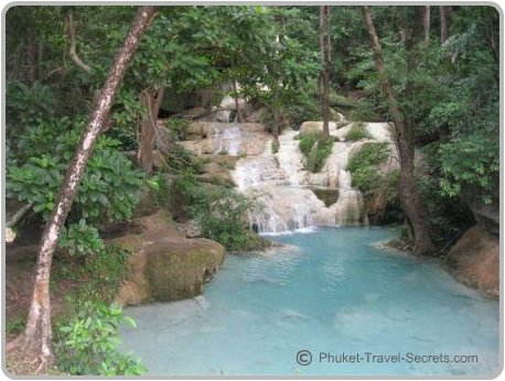 Erawan Falls are a great place to cool down.