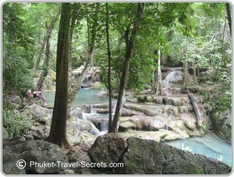 Level 5 swimming holes at Erawan Waterfalls