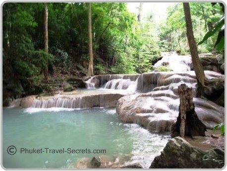 Cascading Falls at Erawan Waterfalls