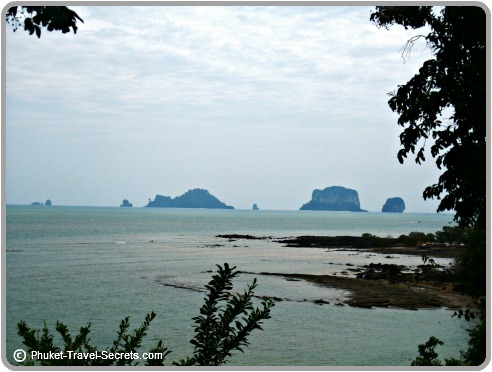 Views of Chicken, Tup and Poda Islands from Ban Laempho,