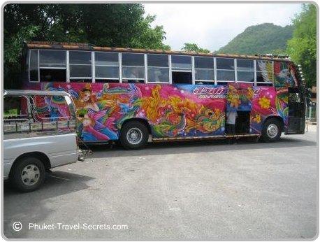Bus trip to see the sights around Kanchanaburi in western Thailand.