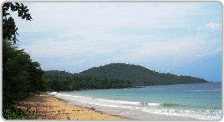 Looking south along Klong Muang Beach in Krabi.
