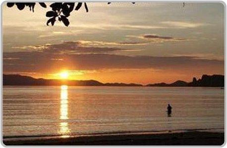 Sunset at Klong Muang Beach in Krabi.