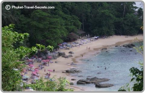 Views overlooking Laem Sing Beach  on the west coast of Phuket