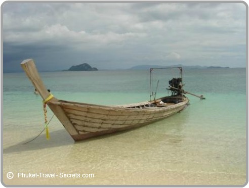 Longtail boats are made from wood and are a fun way to get around.