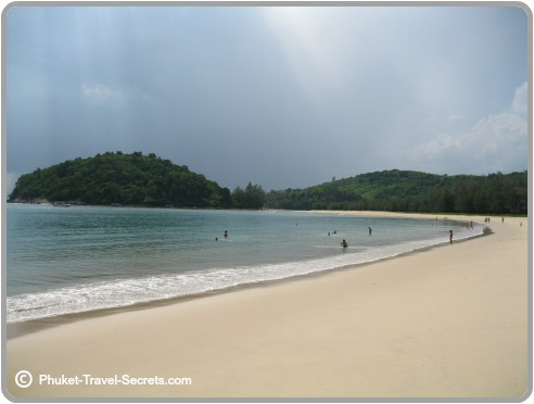 Looking out to Kala Island from Layan Beach in Phuket