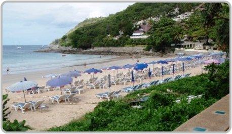 View of Nai Harn Beach looking towards the Royal Phuket Yacht Club.