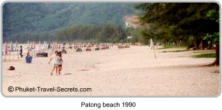 This is what Patong Beach looked like back in 1990, you could actually see the sand and there was only one row of chairs.