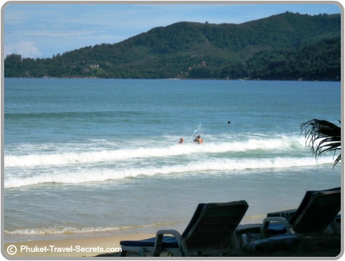 swimming at the northen end of Patong Beach