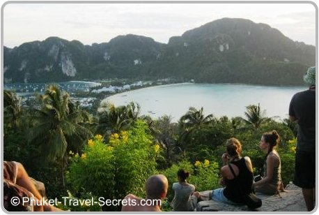 Phi Phi Lookout is a popular spot to watch the sunset.