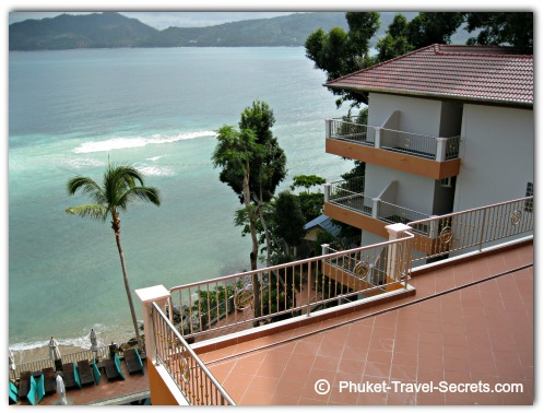 Views from our budget accommodation in Phuket