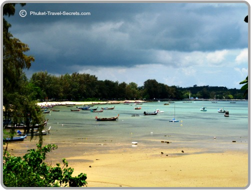 Views overlooking Rawai Beach from the Ocean Seaview restaurant