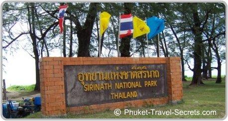 Sirinath National Park at Mai Khao Beach