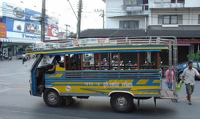 Song-thaews, Phuket City