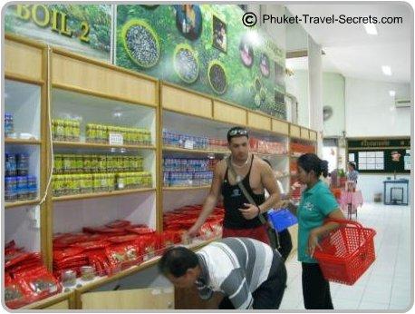 taste testing at the cashew nut factory in Phuket.