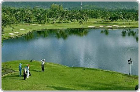 Hitting off the 10th Tee at Phuket Country Club.