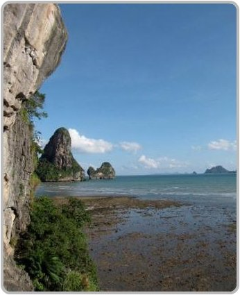 Ton Sai Bay at low tide.