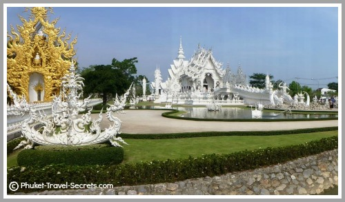 Wat Rong Khun also known as the White Temple in Chiang Rai Thailand.