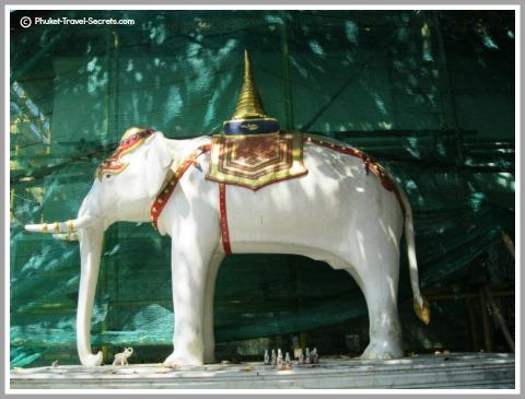 Legendary White Elephant at Doi Suthep.